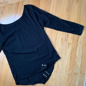 JCrew black long sleeve body suit